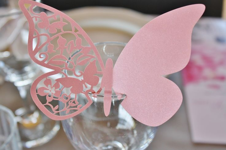 Butterfly placecard wedding
