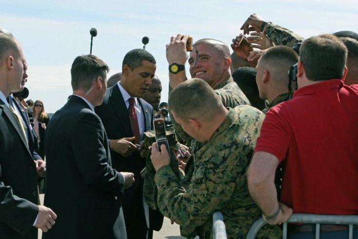 February 2009 President Barack Obama visit to Marine bases.