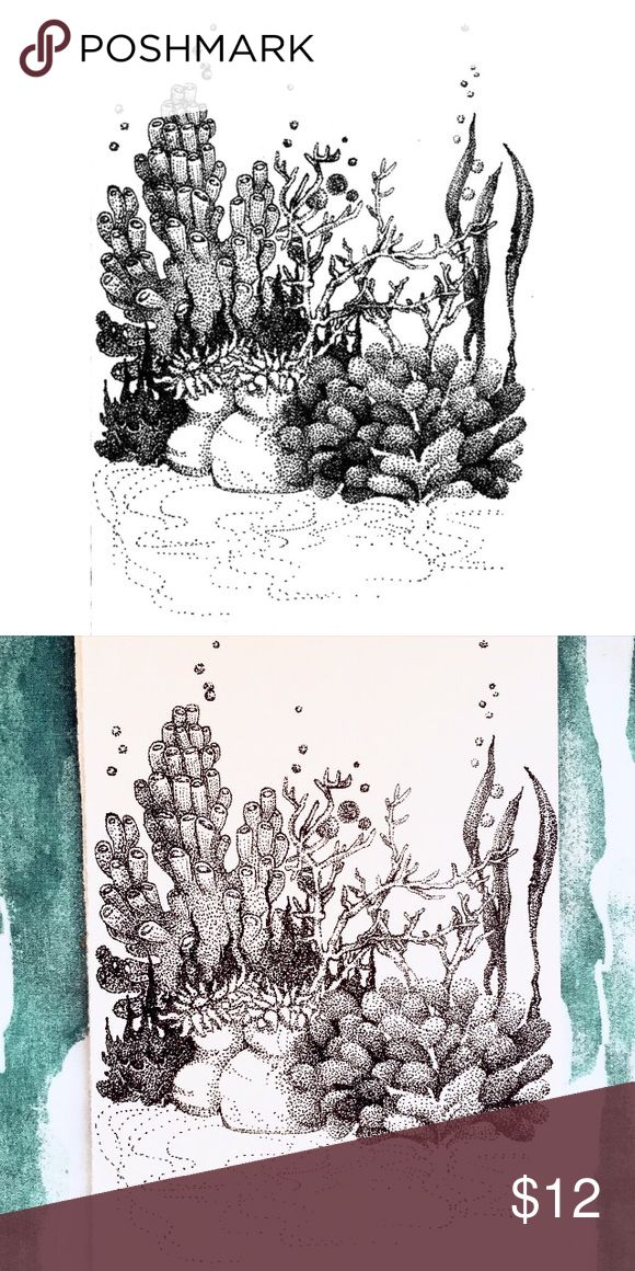 """Coral Reef Art Print I make art, too! ❤️️ This print is of a pen drawing I did last year. Lots of intricate details in the pointillism and rendering. 8 1/2"""" x 6"""" on high quality bright white paper. Selling for $12 on Poshmark (for fees) or $10 on my website: www.theglitterpainter.com (when ordering through my website, you don't pay for shipping)  Fine Art • Black and White • Decorative Other"""