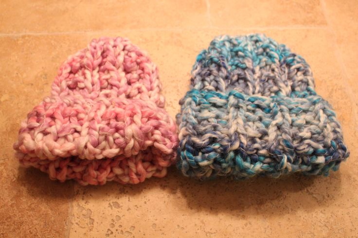 Hand knitted super chunky beanies