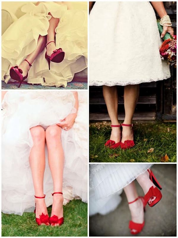 Wow I Wan A Red Bridal Shoes Too