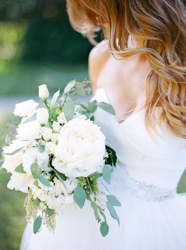 Elegant Outdoor White Wedding from oncewed.com