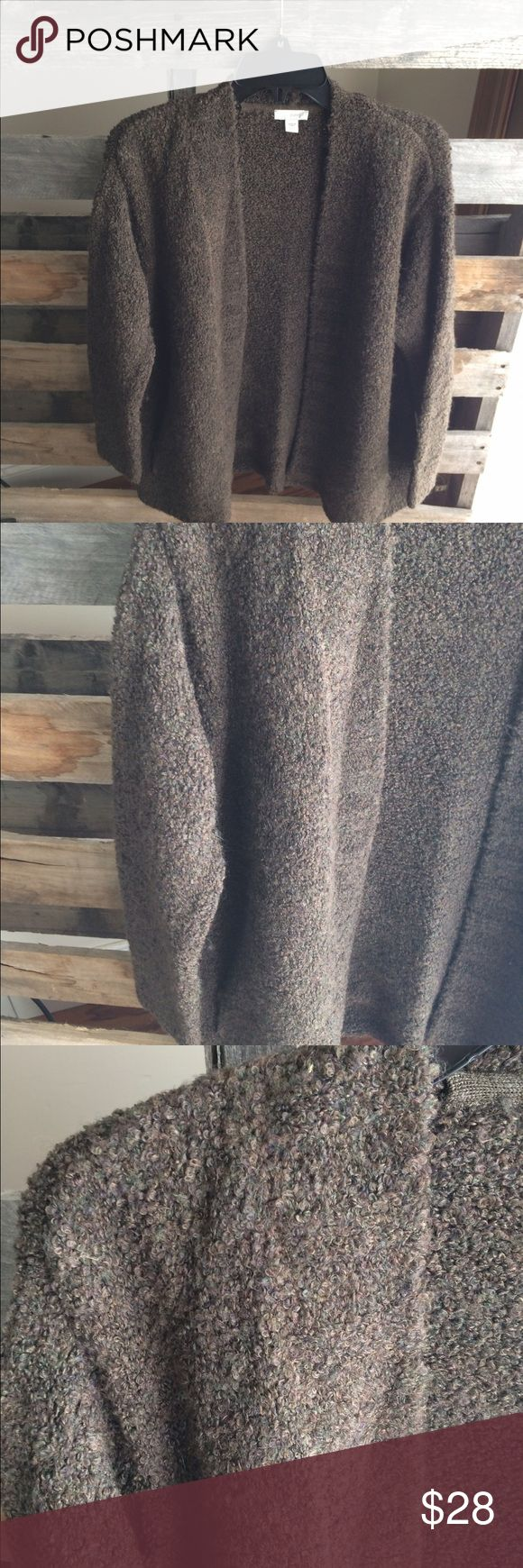 Pure Jill open front cardigan PS brown GUC Smoke and pet free home. Bundle discount 20% J. Jill Sweaters Cardigans