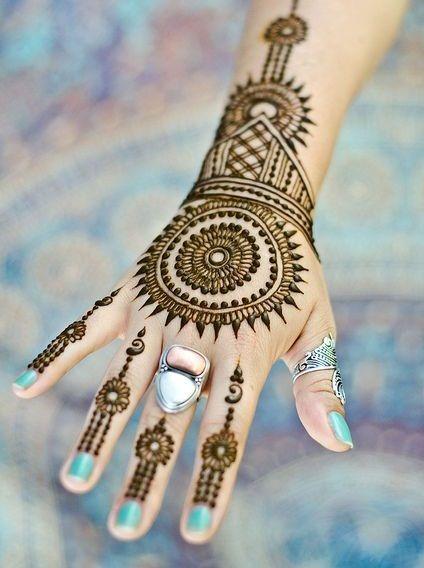 Round Mehndi Designs