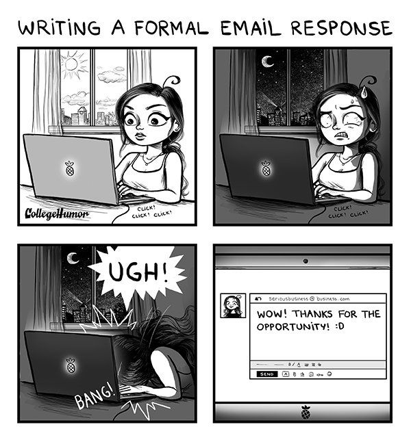 challenges of being an adult by C. Cassandra, writing a formal email response