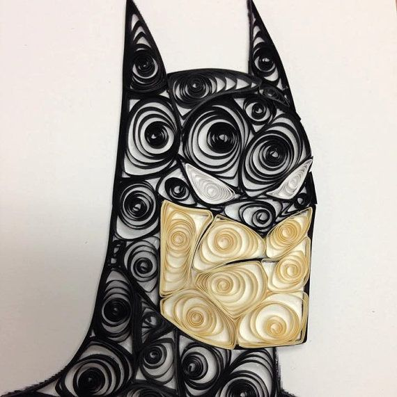 Paper Quilling Batman Cartoon Batman Handmade by jgaCreations