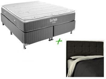 Cama Box Queen Size (Box + Colchão) Ortobom - Mola + Cabeceira