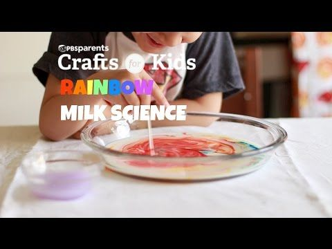 ▶ Rainbow Milk Science | Crafts for Kids | PBS Parents - YouTube