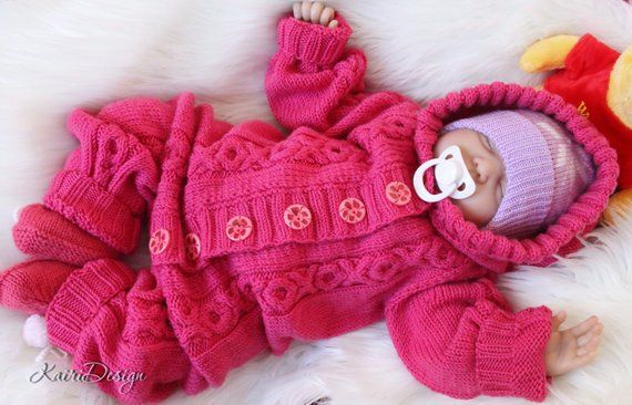 41572935751 Knitting PATTERN Baby romper knitting pdf Newborn knitting cable knitted  jumpsuit babyrompersuit onesie knitting all in one hooded overall