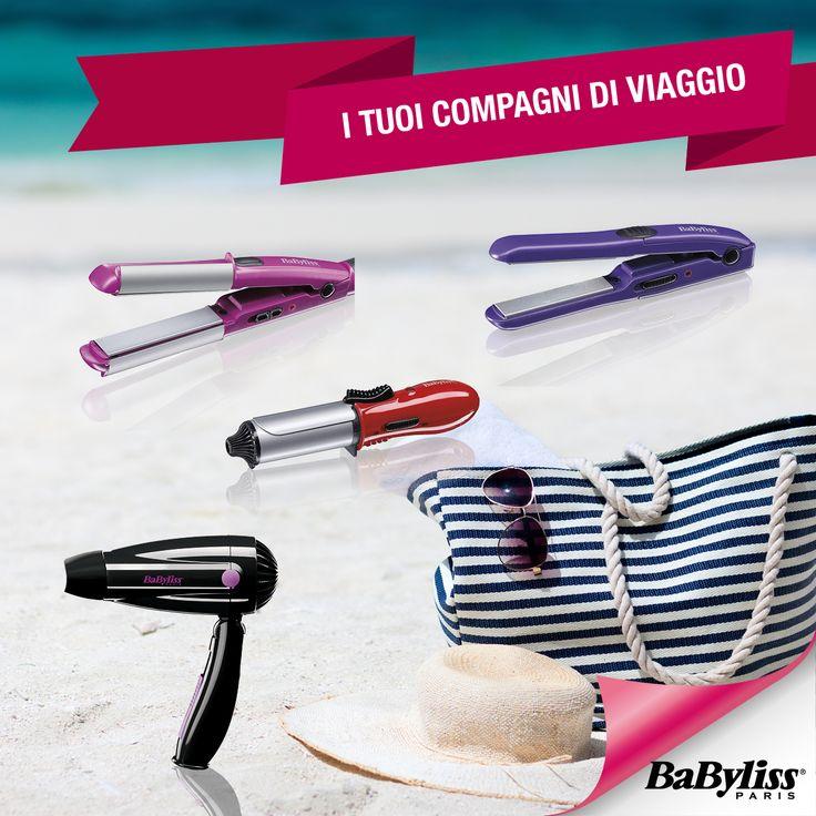 E' tempo di vacanza…ma non per i vostri capelli! Non dimenticate a casa i prodotti da viaggio e il vostro look sarà impeccabile, anche nelle foto ricordo ;) www.shop.babyliss.it