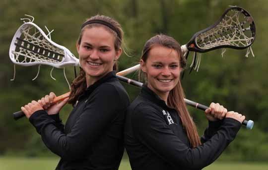 Kirsten Wilhelmsen, left, and Morgan Glassford,  Strath Haven High School,  Wallingford, Pennsylvania.