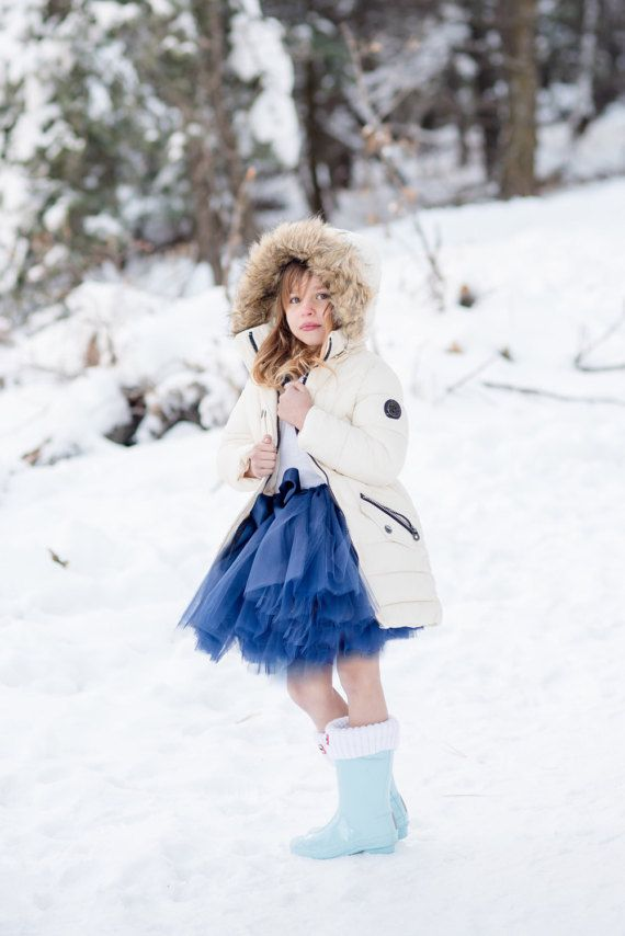 Navy Blue tulle skirt Photo prop PrincessDoodleBeans on Etsy