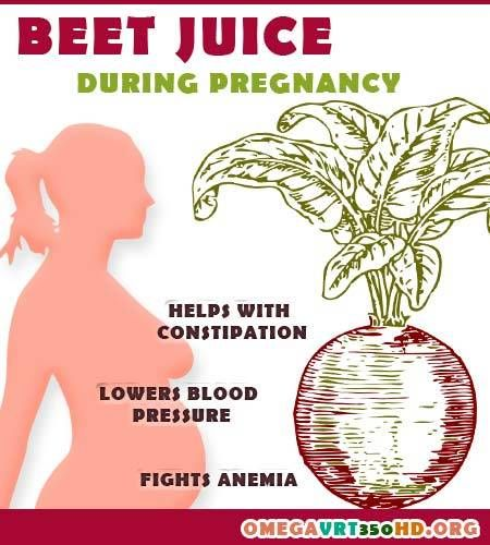 Benefits of beetroot juice during pregnancy : http://ifocushealth.com/juice-recipes-for-pregnant-women/