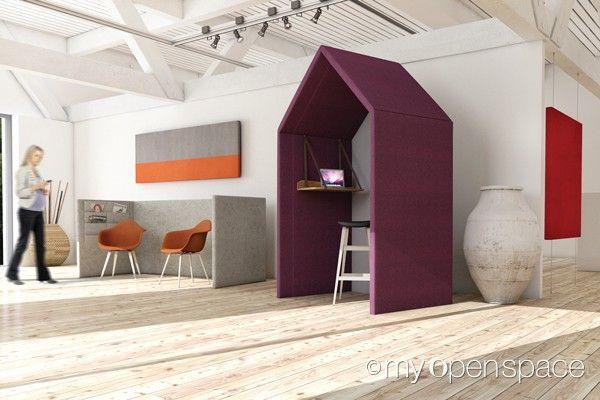 Retrouvez nos cloisonnettes et nos panneaux acoustiques au travers de notre galerie de visuels myO-myOpenspace