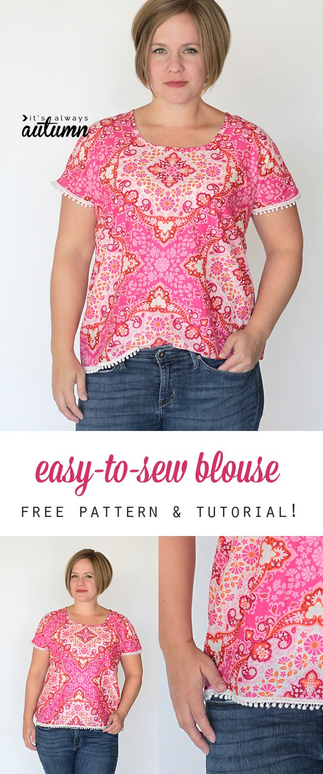 blouse      a tutorial  pattern takes pieces there     s free pattern asics size mens L  only easy a to gel It few make  two super plus and seams in