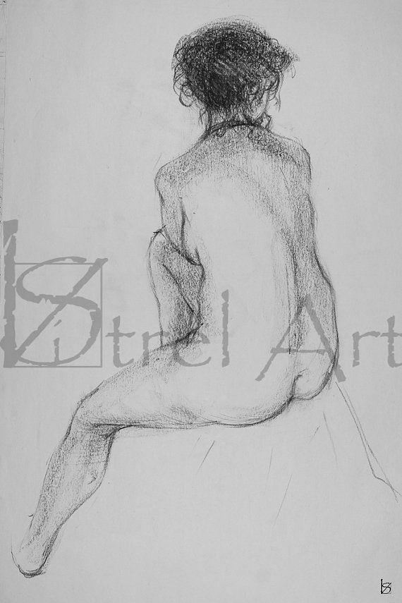 Female nude 6. Digital image of original charcoal by ArtViStrel