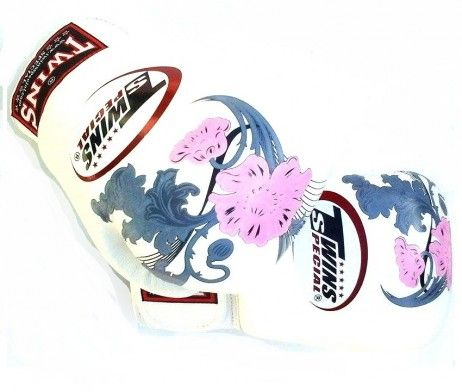 TWINS BOXING GLOVES WHITE FLOWER