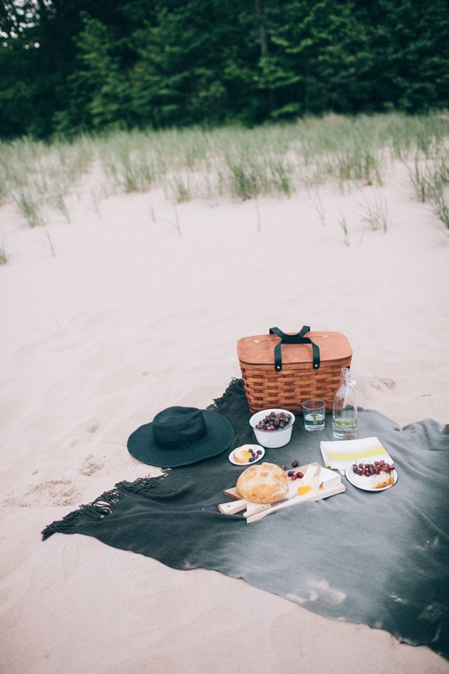 Beach picnic, sand in your sandwiches, you know you love it.