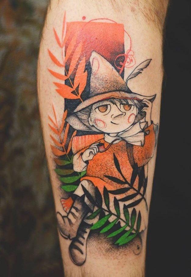 Joanna Swirska Dzo Lama moomin tattoo