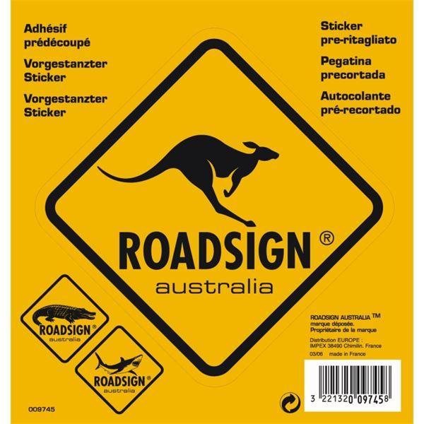 Adhésif Roadsign Australia Kangourou