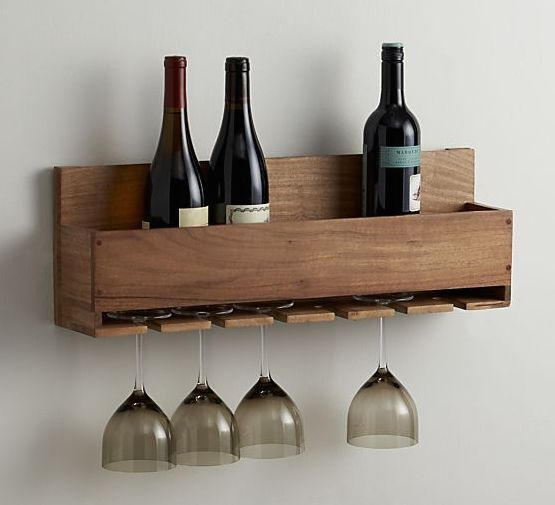 Diy wine rack glass rack bottle and wine for How to make a simple wine rack