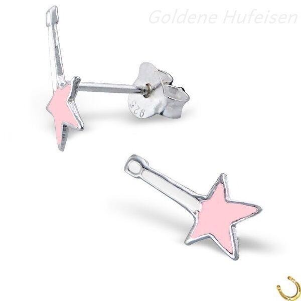 "Kinder /"" Herz /"" Ohrstecker 925 Sterling Silber Mädchen Geschenkidee TOP Pink"