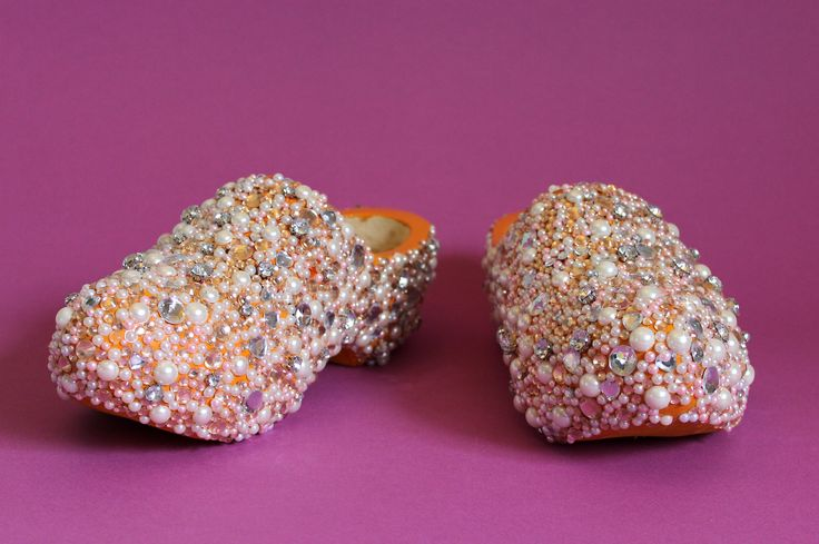 Hand bedazzled dutch clogs.