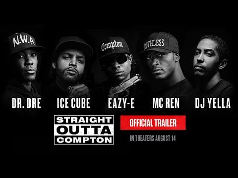 Straight Outta Compton - Official Trailer (HD) -- Universal Pictures  Subscribe480,246 Add to   Share  More 2,264,601  3,331  116 Published on Apr 1, 2015 Straight Outta Compton - Official Trailer (HD)  The Story of N.W.A - In Theaters August 14th http://www.straightouttacompton.com/  In the mid-1980s, the streets of Compton, California, were some of the most dangerous in the country. When five young men translated their experiences growing up into brutally honest music that rebelled against…