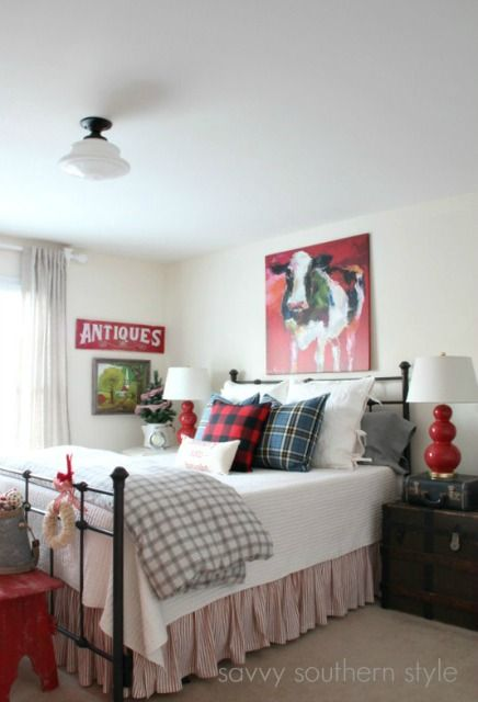 Savvy Southern Style: Farmhouse Christmas Guest Room