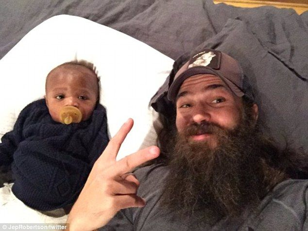 'Thanks for the love' Duck Dynasty's Jep and Jessica Robertson introduced their adopted so...