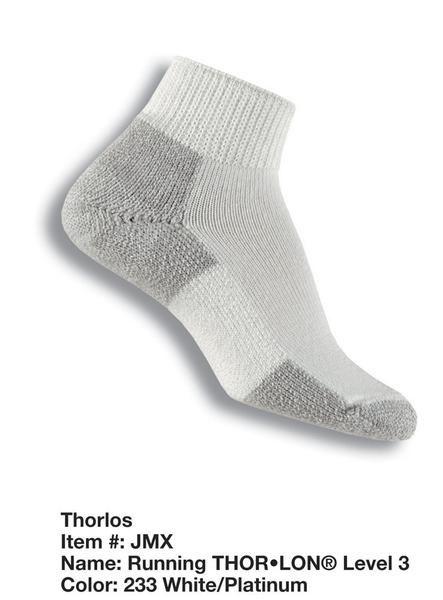 Thorlo thick running mini crew socks JMX