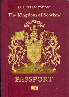 How a Scottish Passport might look, although I suspect Gaelic will also be on the cover...