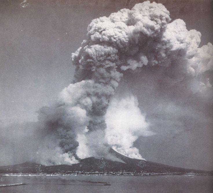 L'éruption du Vésuve le 26 avril 1872 (photo : Giorgio Sommer)