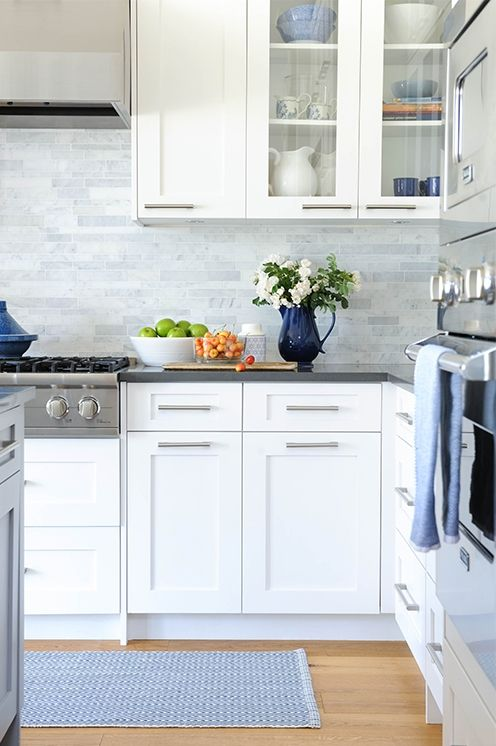 white + marble kitchen