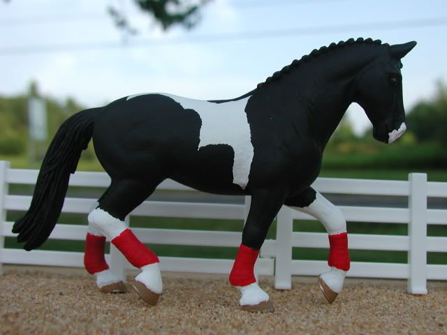 schleich custom | Black pinto. Schleich. Painted July 2009. Owned by Taylor S. Live ...