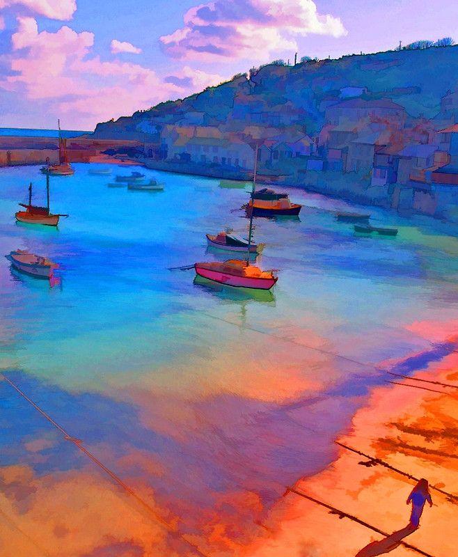 """Mousehole Harbor, Cornwall - UK"" Posters by John Rainford | Redbubble"