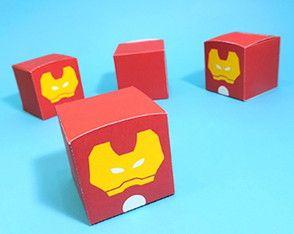 Caixa Cubo Homem de Ferro