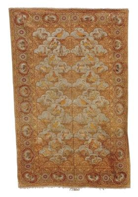 HEREKE SILK AND METAL THREAD RUG  NORHTWEST ANATOLIA, EARLY 20TH CENTURY  Approximately 9 ft. x 5 ft. 10 in. (274 cm. x 178 cm.)
