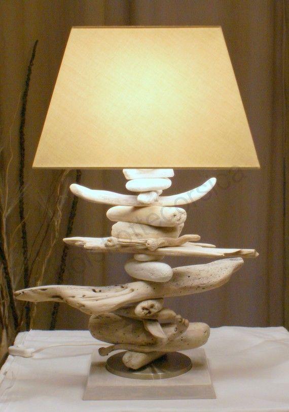 Lampe en bois flotté - A Little Market (140€)
