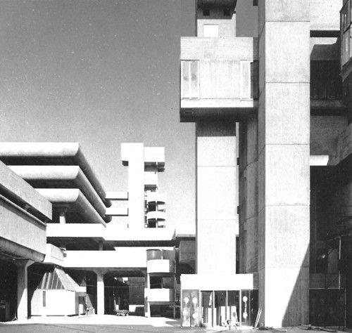 Tricorn Centre, Portsmouth, England, 1962-65  (Owen Luder Partnership)