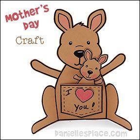 Kangaroo Craft for Preschoolers | Mother's Day Craft - Kangaroo Mother and Joey Paper Craft from www ...
