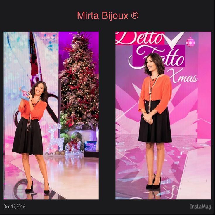 Mirta Bijoux Look della settimana Dicembre 2016 DETTO FATTO   LOOK DEL SETTIMANA DI CATERINA BALIVO.  COLLANA DELLA COLLEZIONE MIRTA BIJOUX®