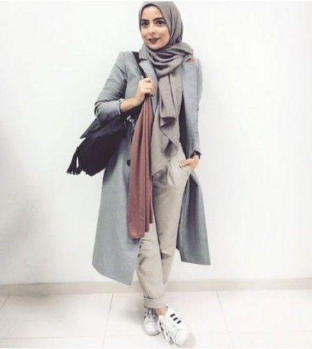 Adidas sporty hijab style, Modern Hijab Street styles http://www.justtrendygirls.com/modern-hijab-street-styles/
