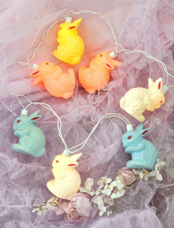 blow mold bunny lights- vintage find by Jenn Hayslip