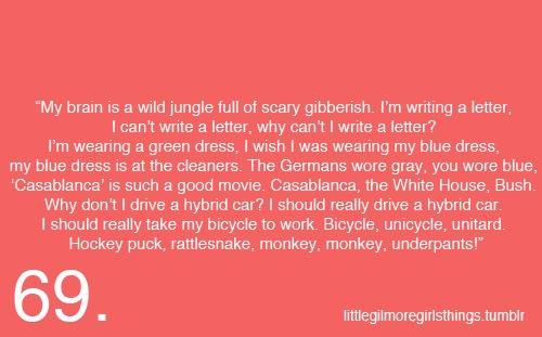 Hockey puck, rattlesnack, monkey, monkey, underpants! Little Gilmore Girls Things