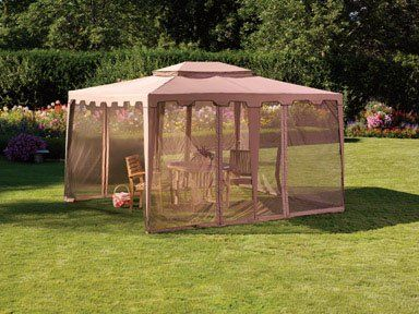 X Includes Mosquito Netting Sturdy Steel Frame Construction Taupe Not Intended To Be Used As A Permanent Structure Could Damaged By Strong