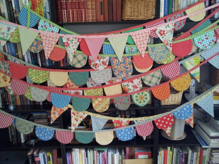Patterned Bunting, doesn't always have to be pointed