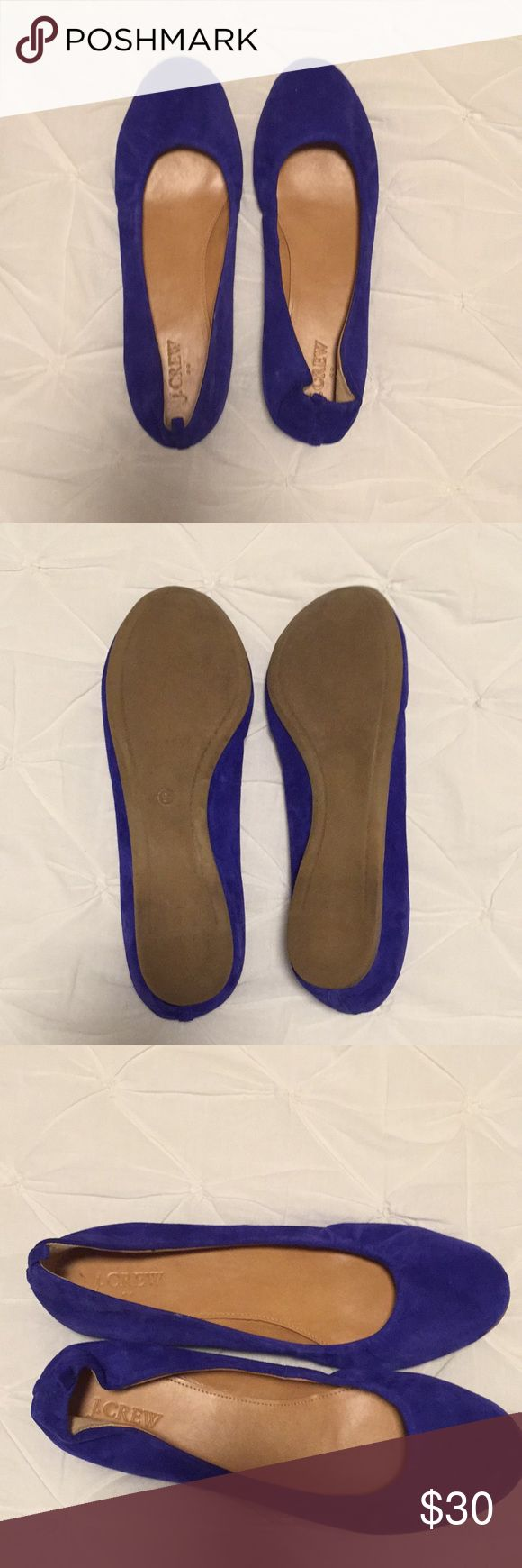Blue suede shoes! Darling outfit makers, never been worn size 8 1/2 J. Crew ballet flats J. Crew Shoes Flats & Loafers