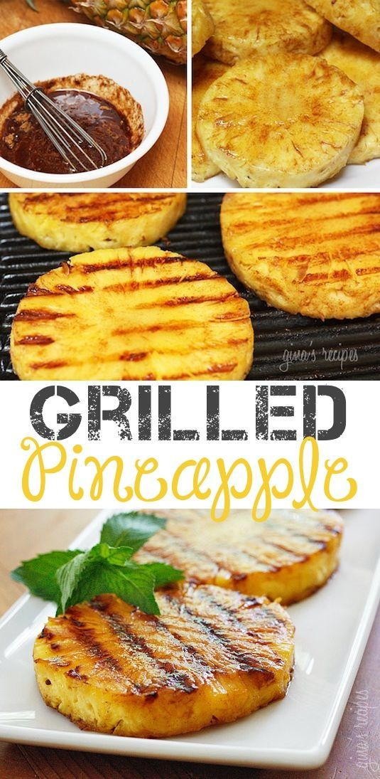 #11. Grilled Pineapple... I'd top this with ice cream!! -- 18 Things You Didn't Know You Could Grill