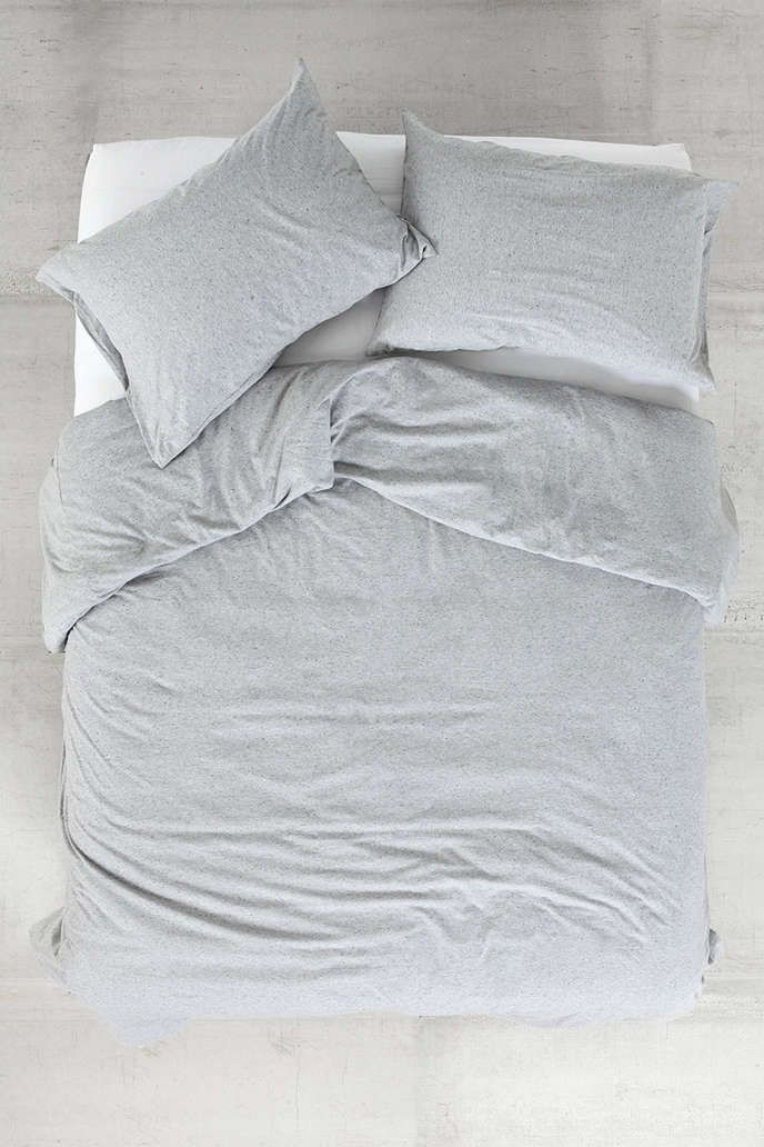 4040 Locust Speckled Jersey Duvet Cover Urban Outfitters